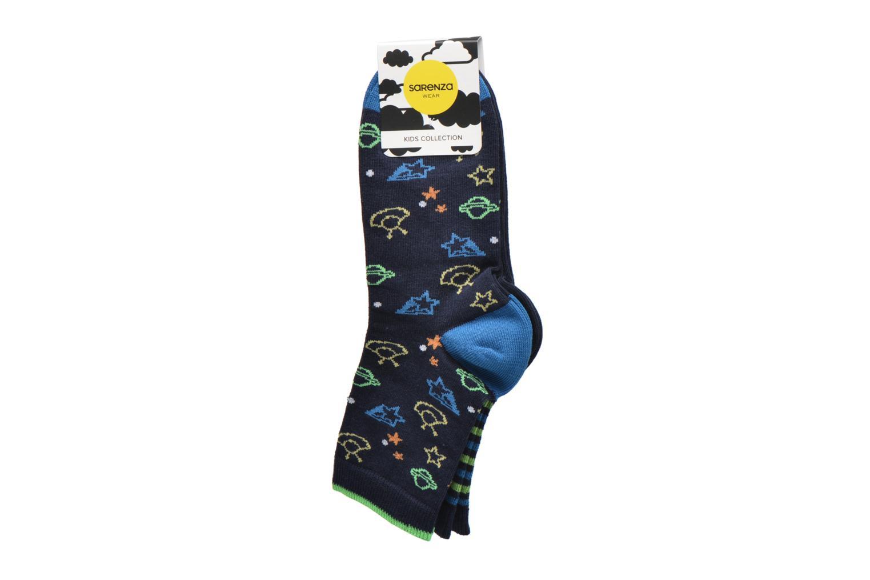 Chaussettes et collants Sarenza Wear Chaussettes martiens Pack de 2 enfant coton Bleu vue derrière