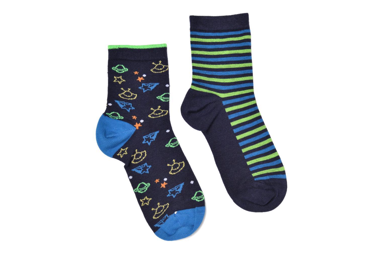 Chaussettes et collants Sarenza Wear Chaussettes martiens Pack de 2 enfant coton Bleu vue détail/paire