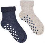 Sokker og tights Tilbehør Chaussons-chaussettes Pack de 2 bebe antiderapant