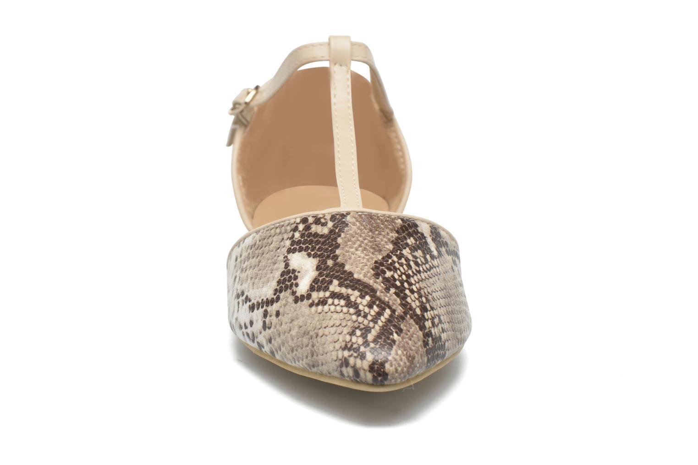 Ballerines Divine Factory Spiri Beige vue portées chaussures