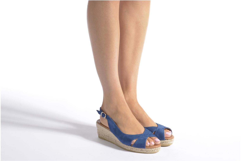 Sandales et nu-pieds Maypol Mungo Bleu vue bas / vue portée sac