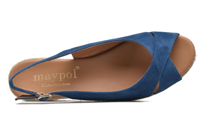 Sandales et nu-pieds Maypol Mungo Bleu vue gauche