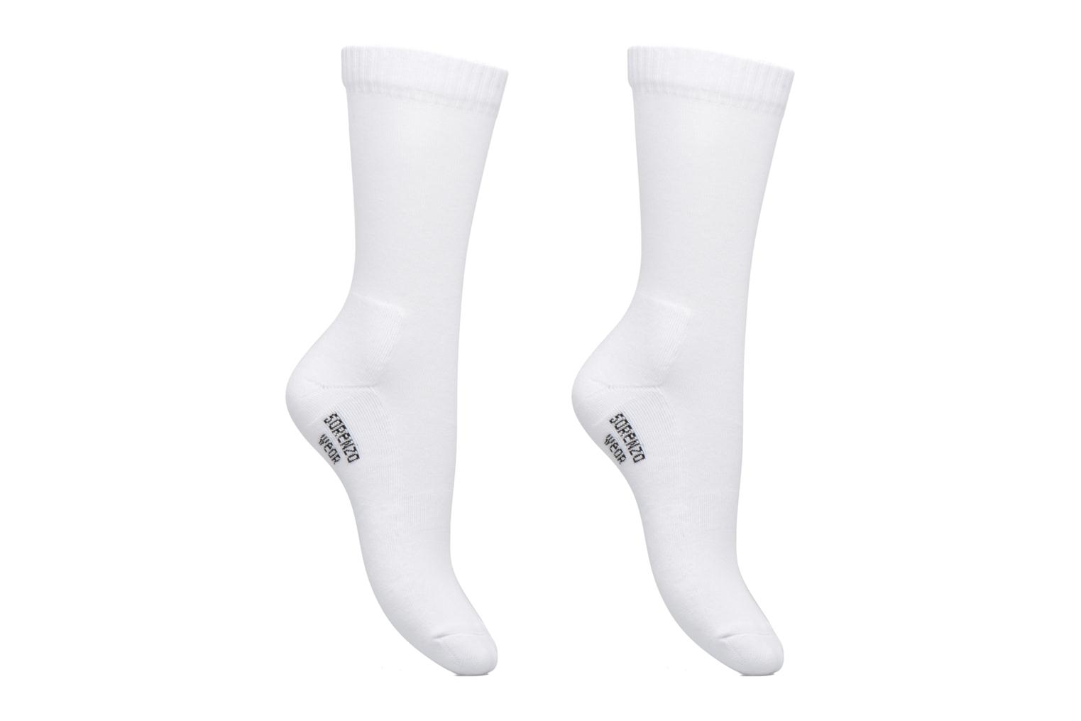 Socks & tights Sarenza Wear Chaussettes sport hautes Pack de 2 femme White detailed view/ Pair view