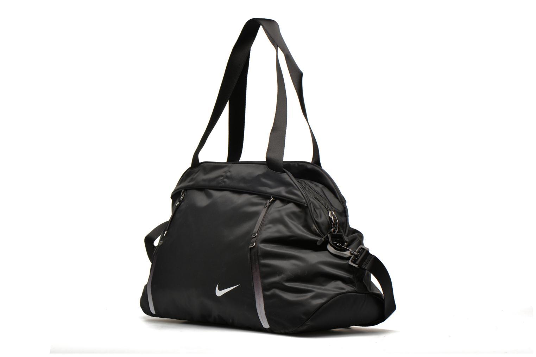 Sacs de sport Nike Auralux Solid Club training bag Sac de sport Noir vue portées chaussures
