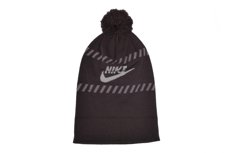 Divers Nike Futura Pom Beanie-Red Bonnet Noir vue détail/paire