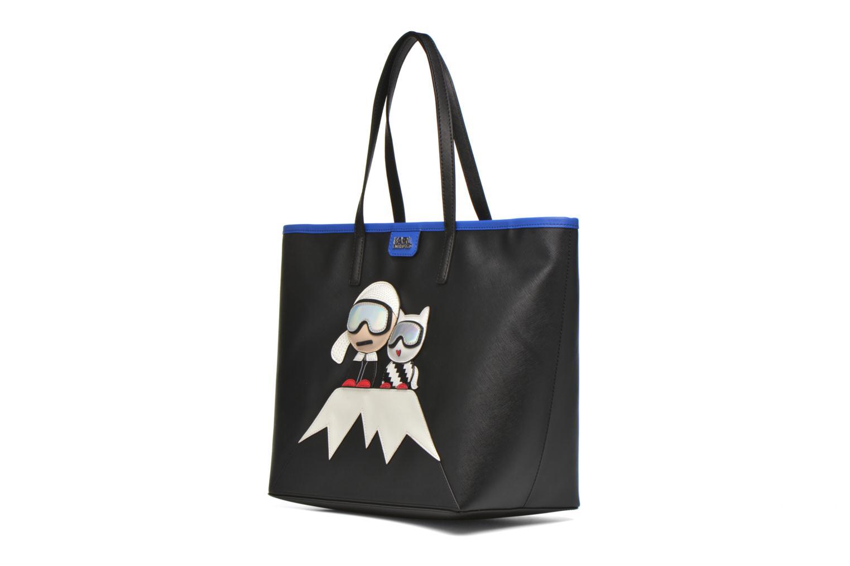 Handtaschen Karl Lagerfeld Mountain Holiday shopper schwarz schuhe getragen