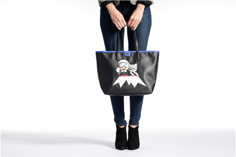 Handtaschen Karl Lagerfeld Mountain Holiday shopper schwarz ansicht von oben