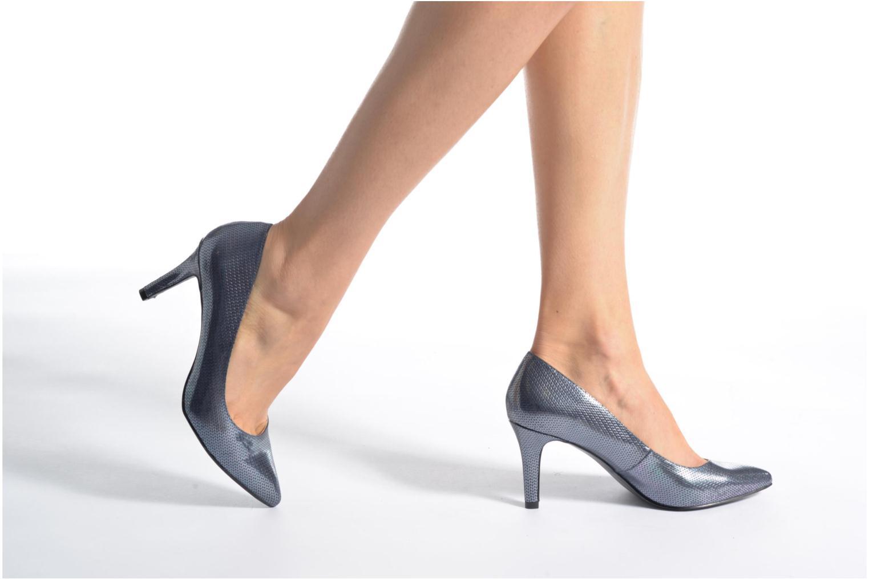 Escarpins I Love Shoes FIRONE Bleu vue bas / vue portée sac