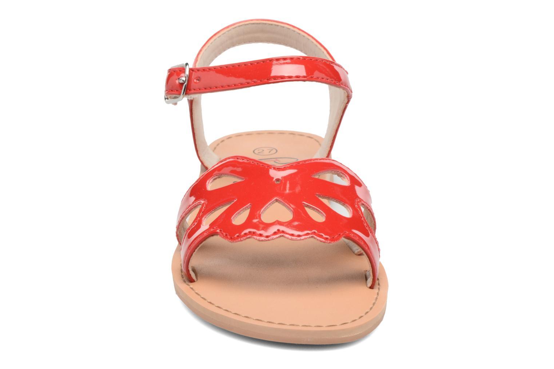 Sandales et nu-pieds I Love Shoes FIDELI Rouge vue portées chaussures