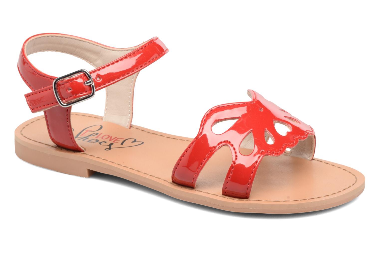 Sandales et nu-pieds I Love Shoes FIDELI Rouge vue détail/paire