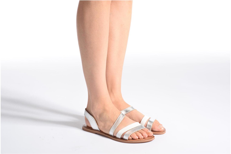 Sandales et nu-pieds I Love Shoes KEUNI Leather Argent vue bas / vue portée sac