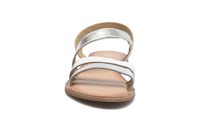 Sandales et nu-pieds I Love Shoes KEUNI Leather Argent vue portées chaussures