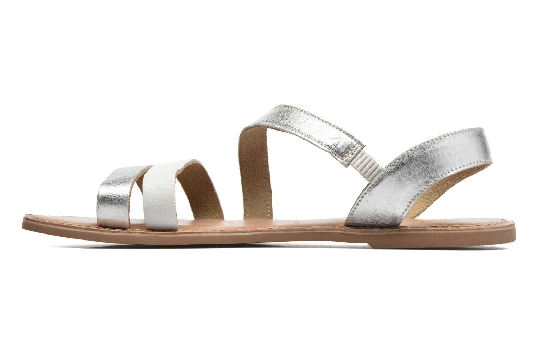 Sandales et nu-pieds I Love Shoes KEUNI Leather Argent vue face