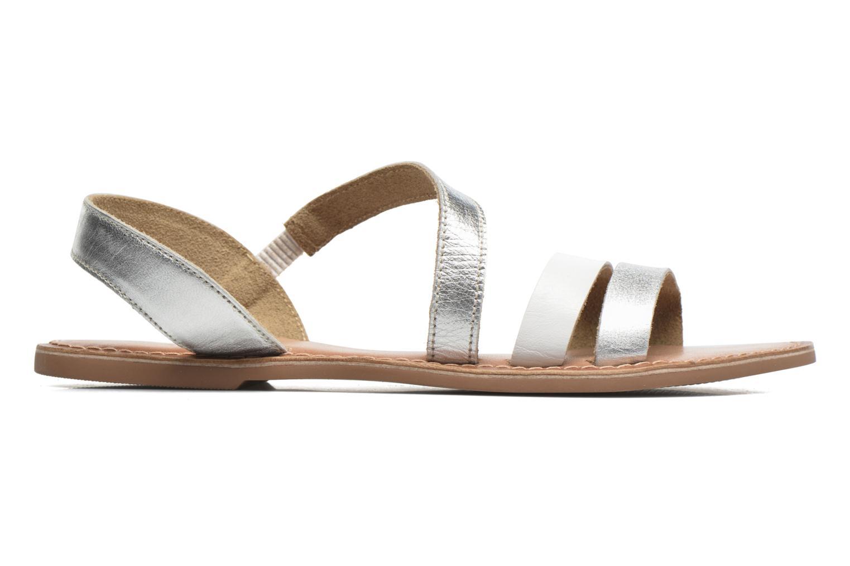 Sandalias I Love Shoes KEUNI Leather Plateado vistra trasera
