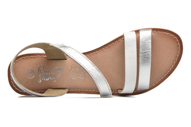 Sandalias I Love Shoes KEUNI Leather Plateado vista lateral izquierda