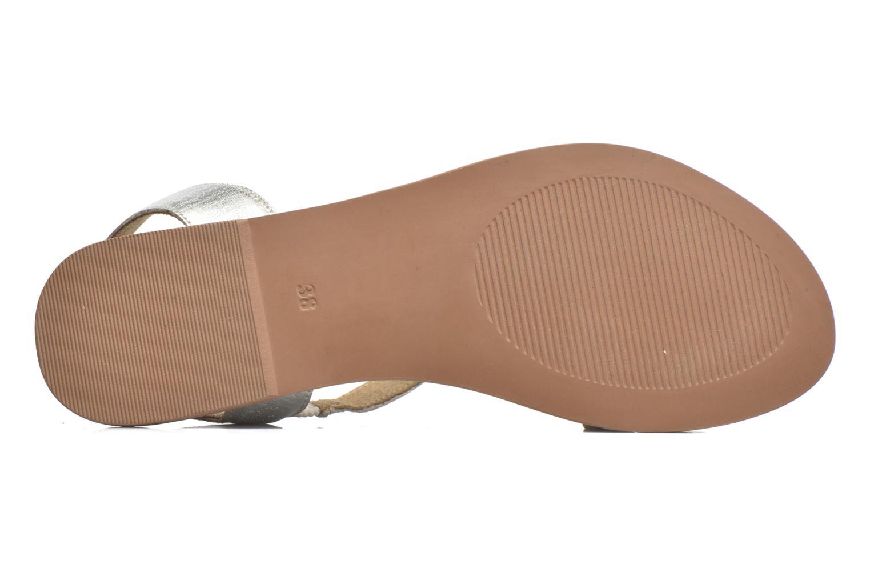 Sandales et nu-pieds I Love Shoes KEUNI Leather Argent vue haut