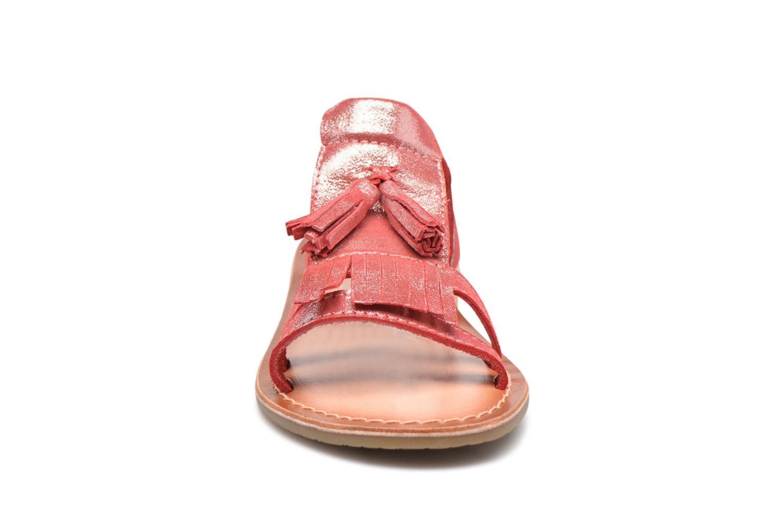 Sandales et nu-pieds I Love Shoes KEFRAN Leather Rouge vue portées chaussures