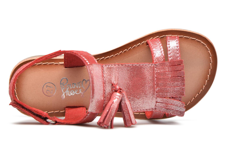 Sandales et nu-pieds I Love Shoes KEFRAN Leather Rouge vue gauche