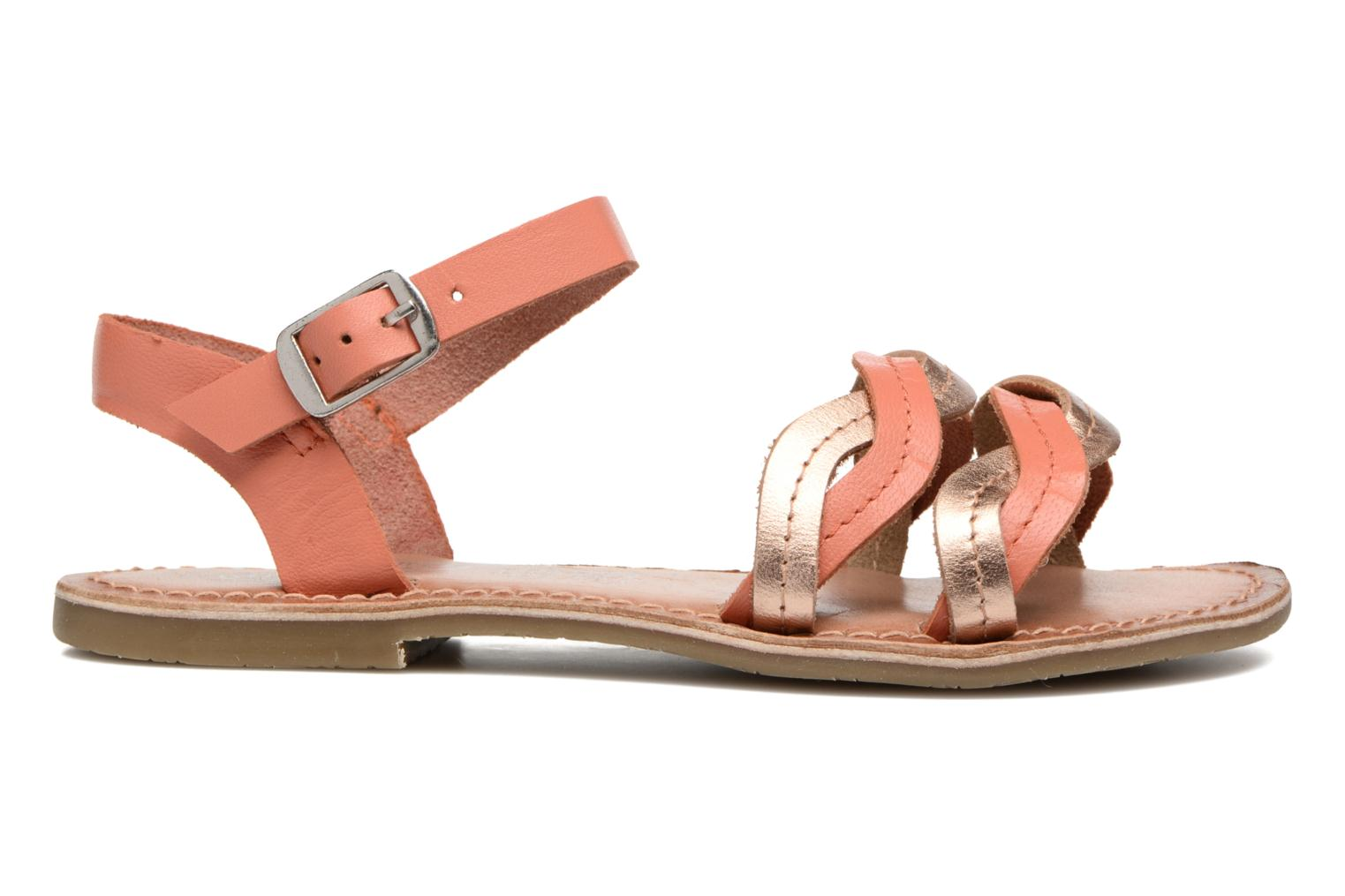 KEWAVY Leather CORAL/PINK GOLD