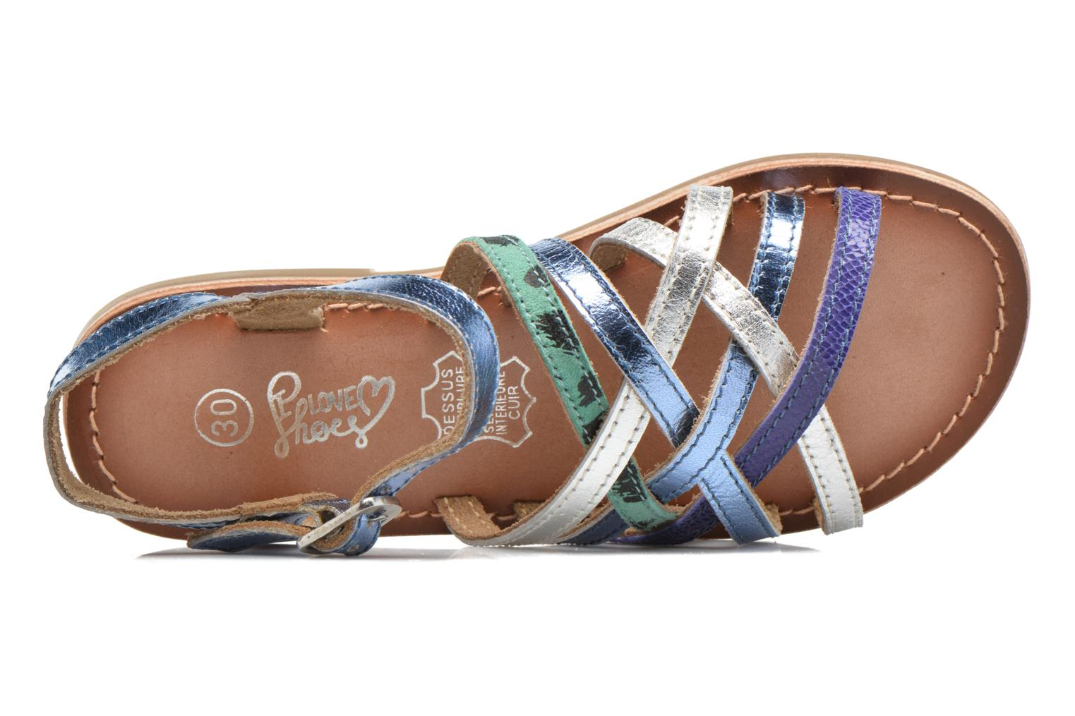 Sandalen I Love Shoes KEMULT Leather blau ansicht von links