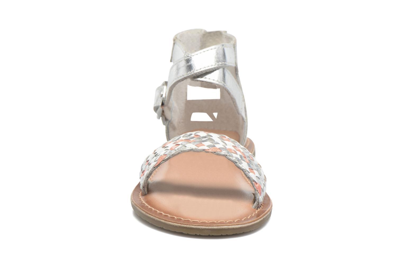 Sandales et nu-pieds I Love Shoes KETRUSI Leather Argent vue portées chaussures