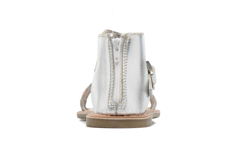 Sandales et nu-pieds I Love Shoes KETRUSI Leather Argent vue droite