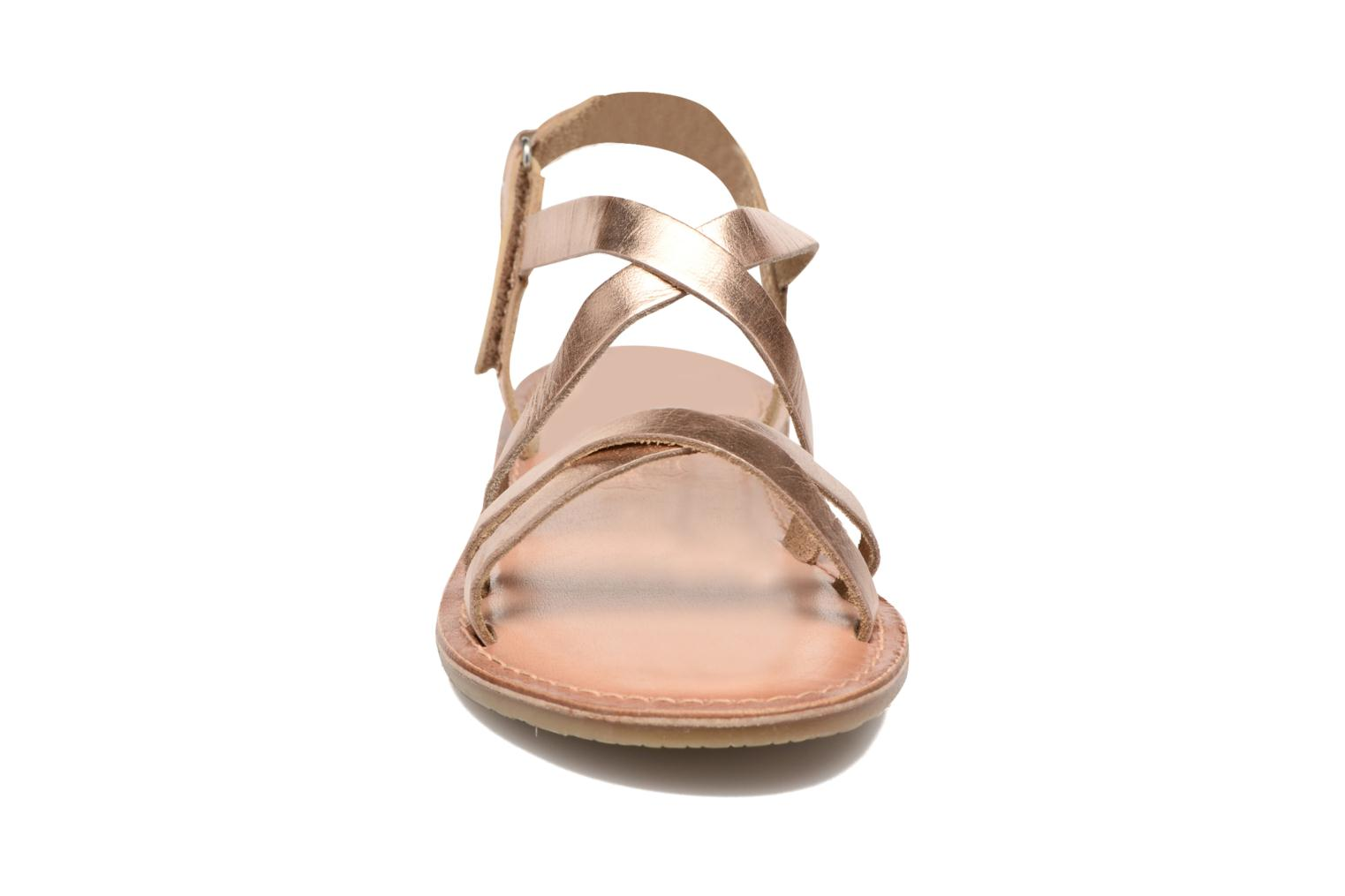 Sandals I Love Shoes KEINU Leather Bronze and Gold model view