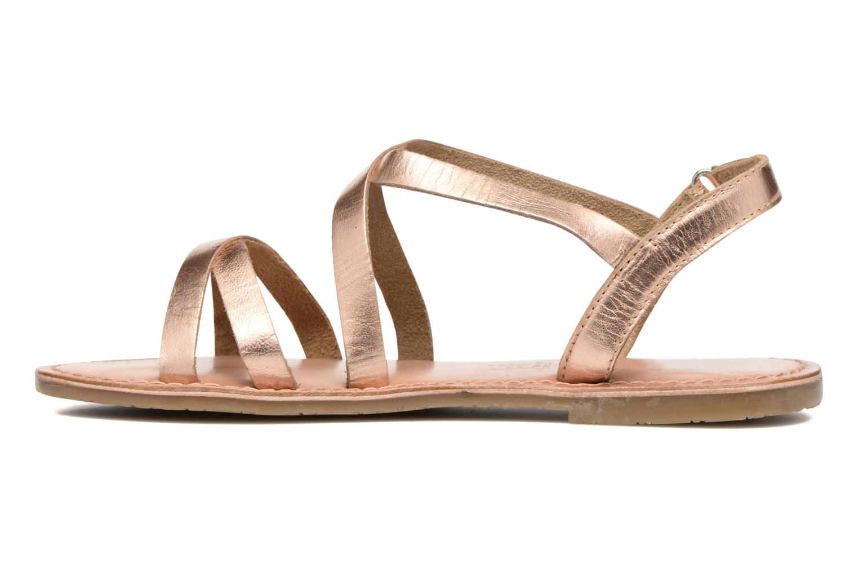 Sandales et nu-pieds I Love Shoes KEINU Leather Or et bronze vue face