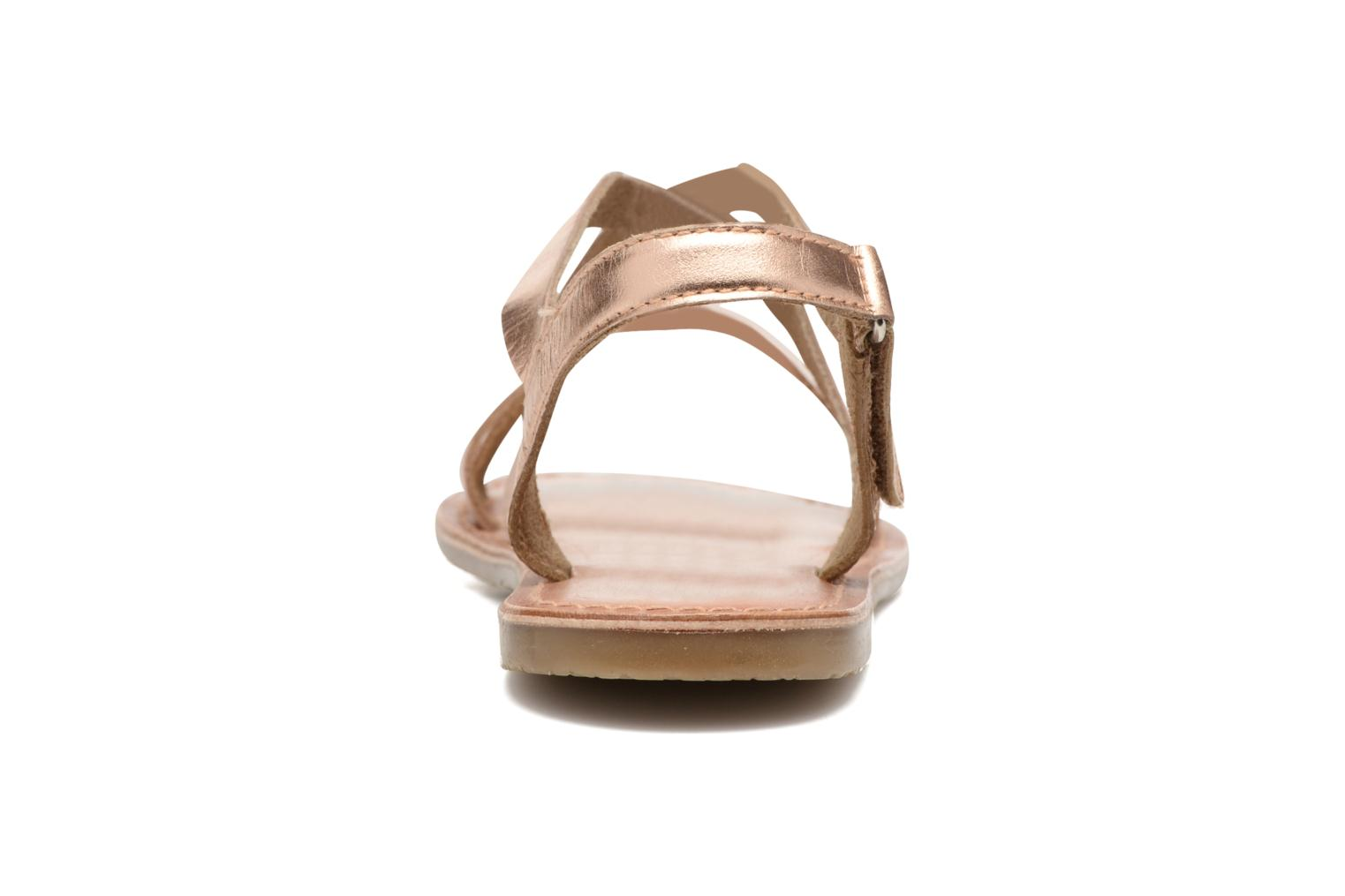 Sandals I Love Shoes KEINU Leather Bronze and Gold view from the right
