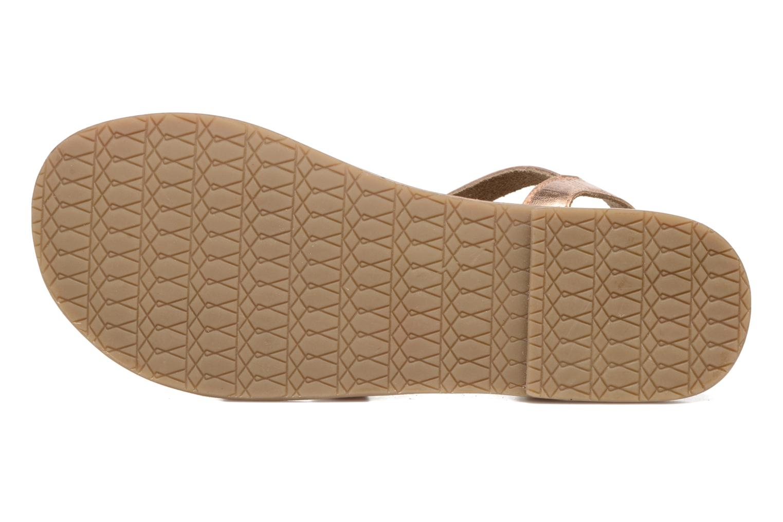 Sandali e scarpe aperte I Love Shoes KEINU Leather Oro e bronzo immagine dall'alto