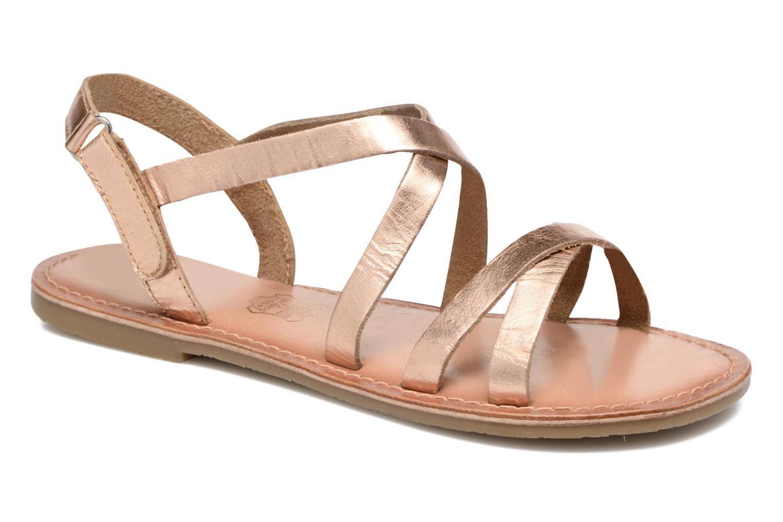 Sandales et nu-pieds I Love Shoes KEINU Leather Or et bronze vue détail/paire