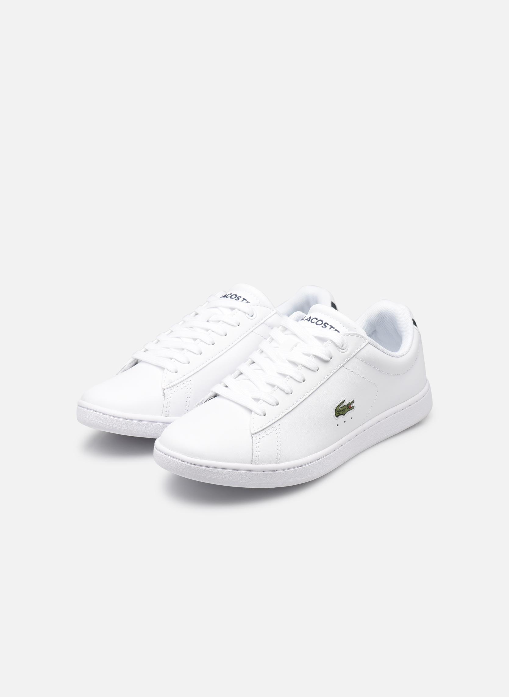 Sneaker Lacoste Carnaby Evo BL 1 W weiß ansicht von unten / tasche getragen