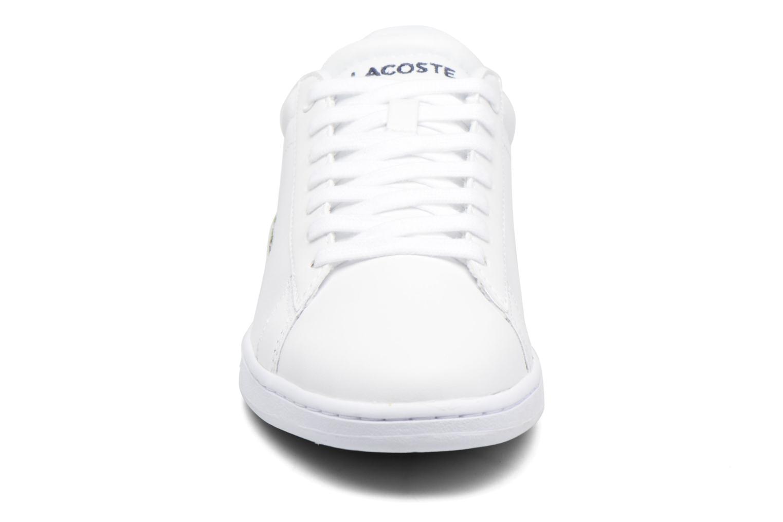 Sneaker Lacoste Carnaby Evo BL 1 W weiß schuhe getragen