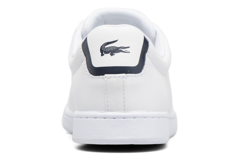 Baskets Lacoste Carnaby Evo BL 1 W Blanc vue droite