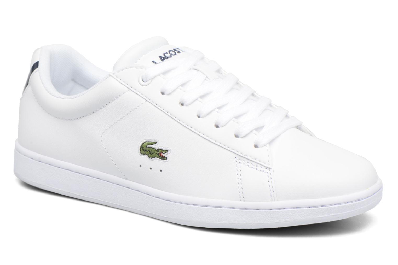 Baskets Lacoste Carnaby Evo BL 1 W Blanc vue détail/paire