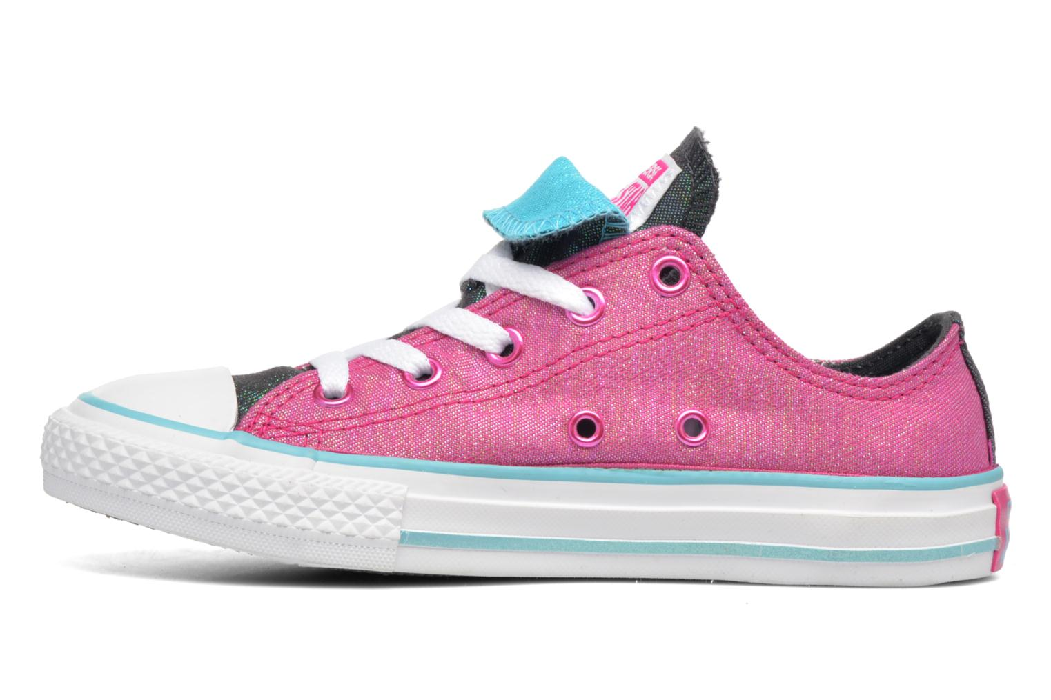 Sneakers Converse Chuck Taylor All Star Double Tongue Ox Kid Viola immagine frontale