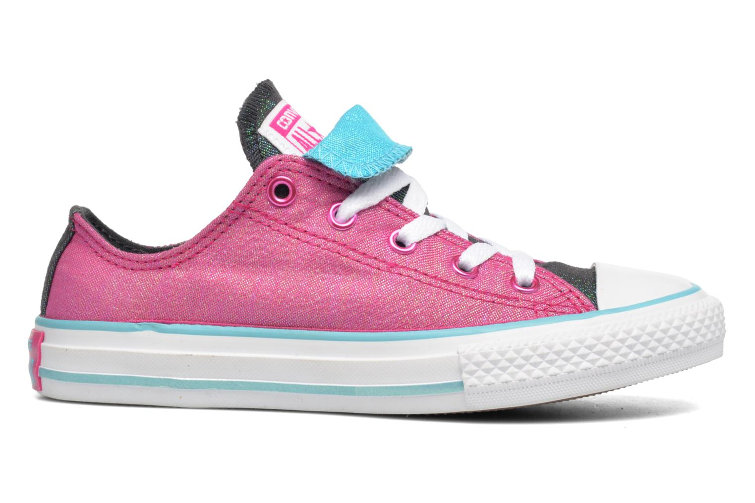 Sneakers Converse Chuck Taylor All Star Double Tongue Ox Kid Viola immagine posteriore