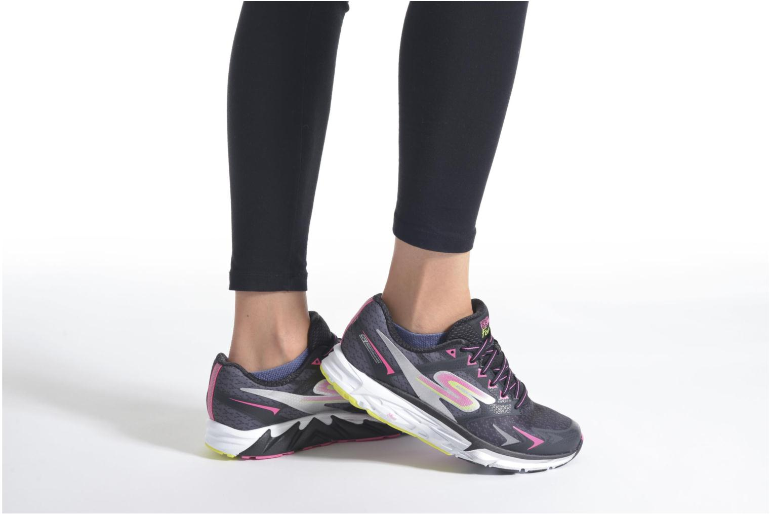 Sport shoes Skechers Go Run Forza Blue view from underneath / model view