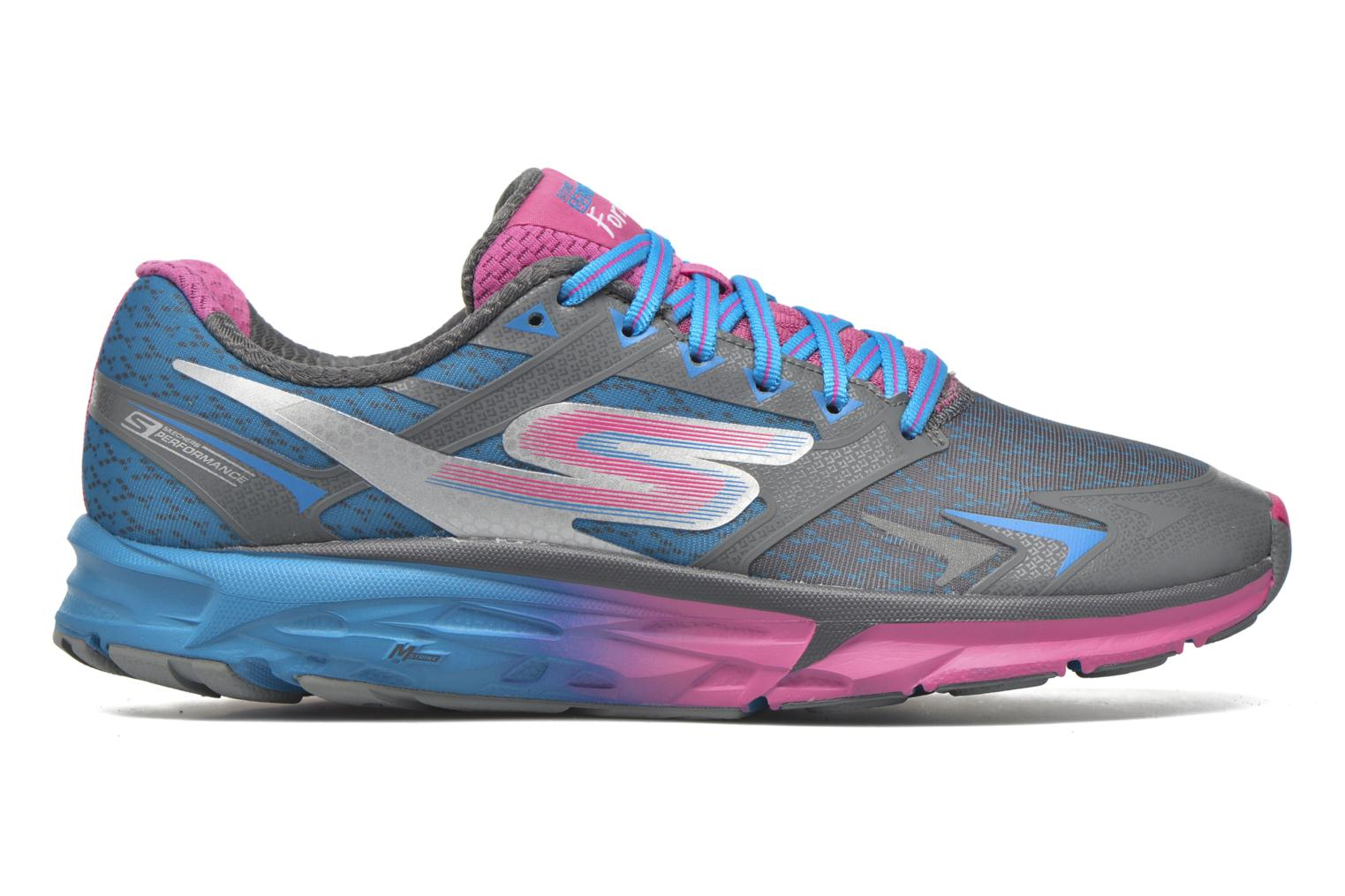 Sport shoes Skechers Go Run Forza Blue back view