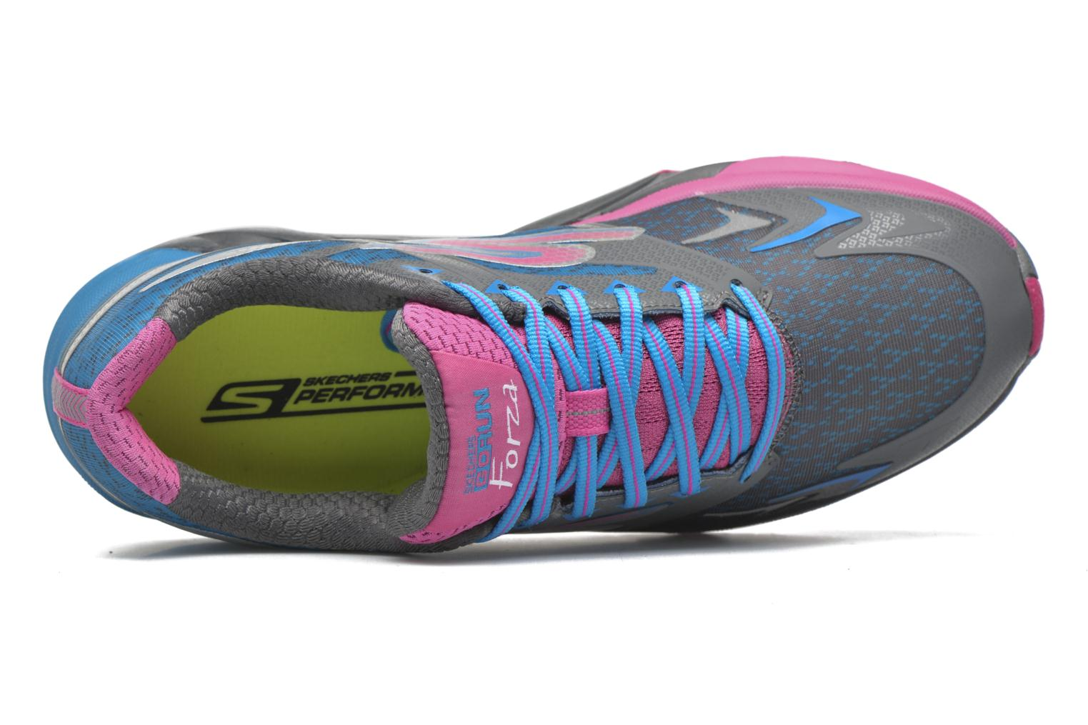 Sport shoes Skechers Go Run Forza Blue view from the left