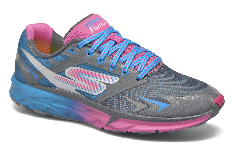 Chaussures de sport Skechers Go Run Forza Bleu vue détail/paire