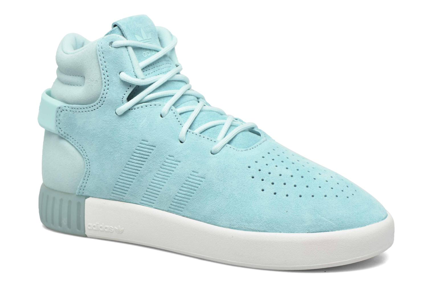 Baskets Adidas Originals Tubular Invader W Bleu vue détail/paire