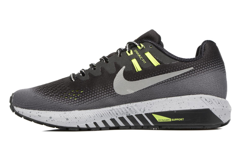 Chaussures de sport Nike Air Zoom Structure 20 Shield Noir vue face