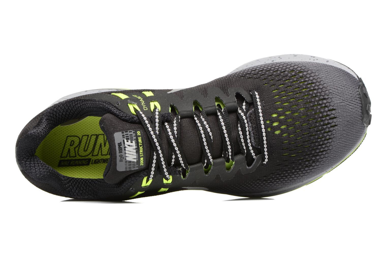 Chaussures de sport Nike Air Zoom Structure 20 Shield Noir vue gauche