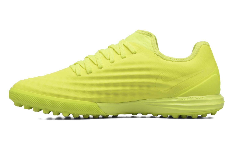 Chaussures de sport Nike Magistax Finale II Tf Jaune vue face