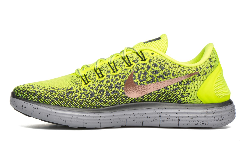 Chaussures de sport Nike Nike Free Rn Distance Shield Jaune vue face