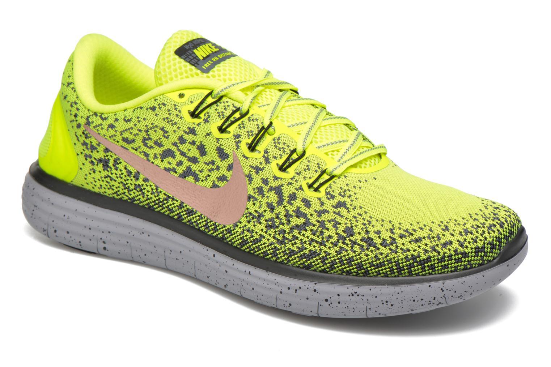 Chaussures de sport Nike Nike Free Rn Distance Shield Jaune vue détail/paire
