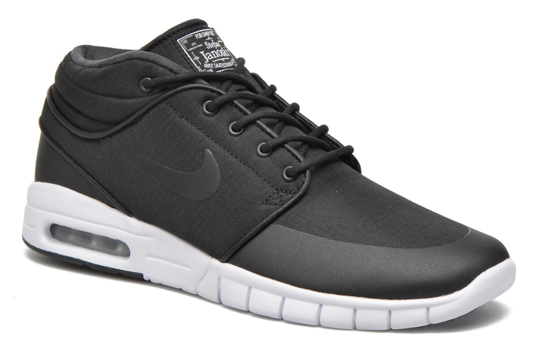 Nike Stefan Janoski Max Mid Black/Black-Metallic Silver-White