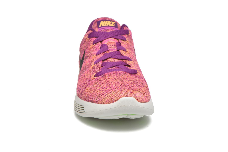 Chaussures de sport Nike W Nike Lunarepic Low Flyknit Violet vue portées chaussures