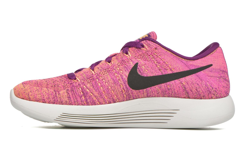 Chaussures de sport Nike W Nike Lunarepic Low Flyknit Violet vue face